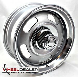 18x8-034-18x9-034-ALUMINUM-GRAY-REV-CLASSIC-107-RALLY-WHEELS-CHEVY-GMC-C10-SWB-LWB-5x5