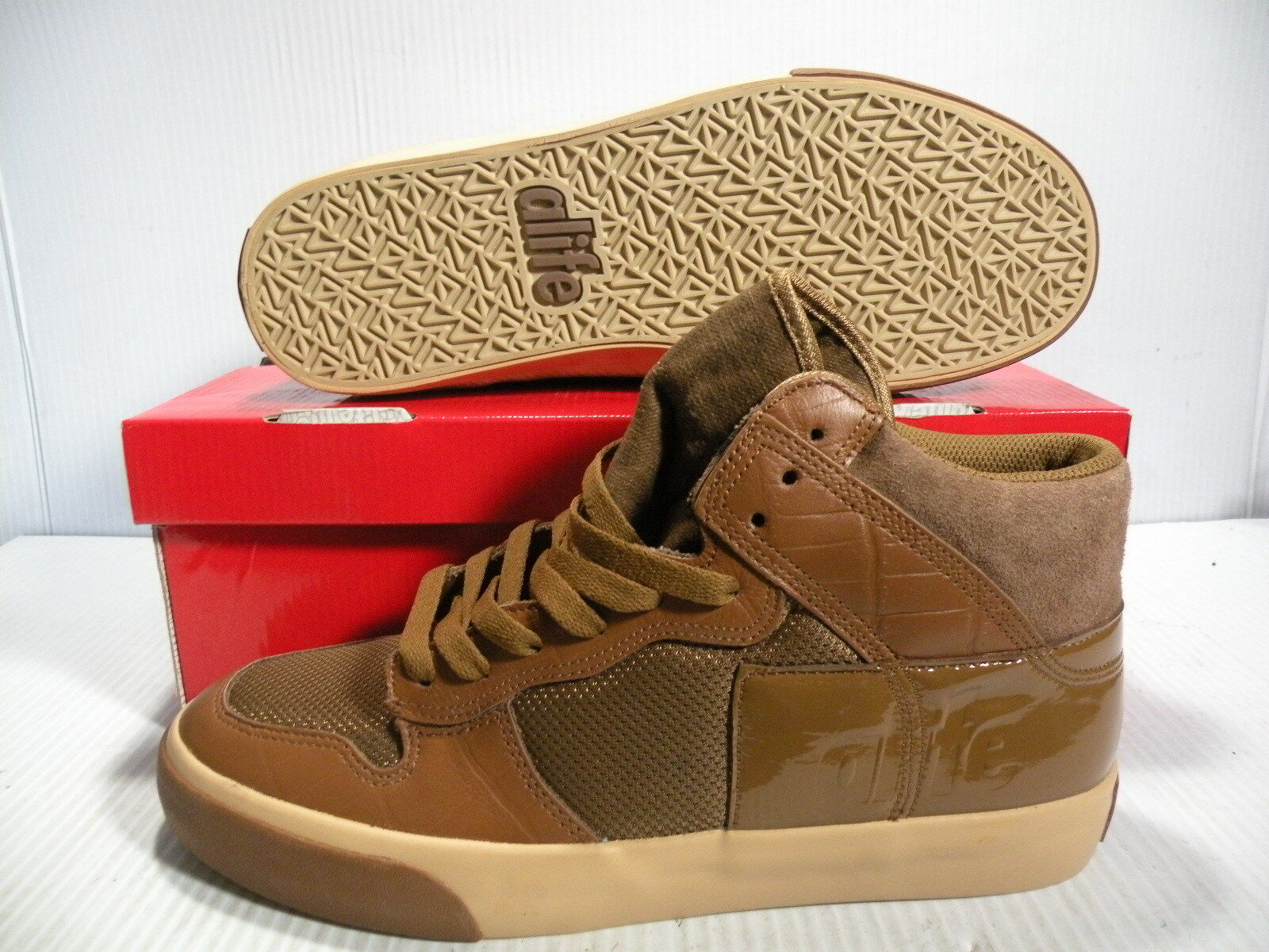 ALIFE EVERYBODY HI AMERICAS CUP BROWN SNEAKERS Uomo SHOES BROWN CUP F92EVHCP3 SIZE 8.5 NEW 15e2d9