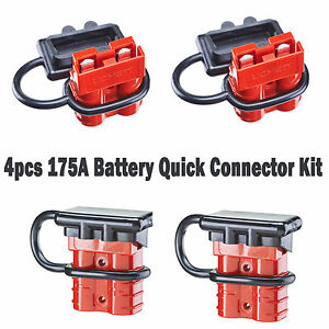 4-175A-Connector-Winch-Trailer-Battery-Connect-Disconnect-Quick-Wire-Harness