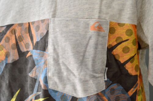 Quiksilver Boys Printed T Shirt GREY- SIZES NEW 12,14 /& 16 YEARS