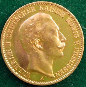 20 Mark Kaiserreich 900 Goldmünze Wilhelm Ii König Von Preußen 1912