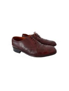Vintage chaussures homme BALLY en cuir richelieus robe / / Lace Up chaussures de