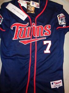 da5509b0c84 JOE MAUER MAJESTIC Minnesota Twins MLB BASEBALL SEWN JERSEY size 54 ...