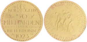 Germany/Heilbronn Emergency Money Heilbron A N 1923 Almost XF (1) (42534)