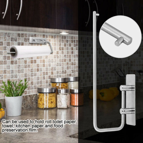 Bathroom Toilet Paper// Towel Roll Holder Stainless Steel Tissue Rack kitchen