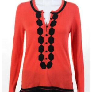 Milly-New-York-orange-sweater-tunic-size-small