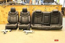 2014-17 Chevy SS Sedan Ebony Black Leather Seats Set F&R Used Street Rod (020)