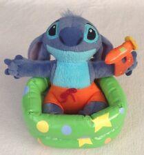 "Disney Store Stitch 6"" Kiddie Pool Stuffed Plush w Swim Trunks & Water Gun Lilo"