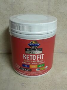Garden of Life Dr Formulated Keto Fit Weight Loss Shake Chocolate, 12.87oz