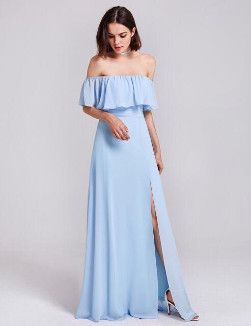1560242f3a3 Ever-Pretty Long off Shoulder Bridesmaid Dresses Split Evening Prom ...