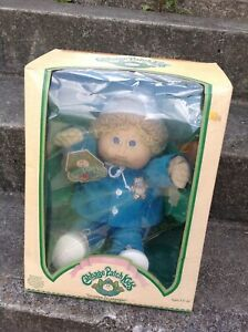 New-Vintage-Coleco-1985-Cabbage-Patch-Kids-CPK-Bernard-Jerrie-Boy-Doll-RARE