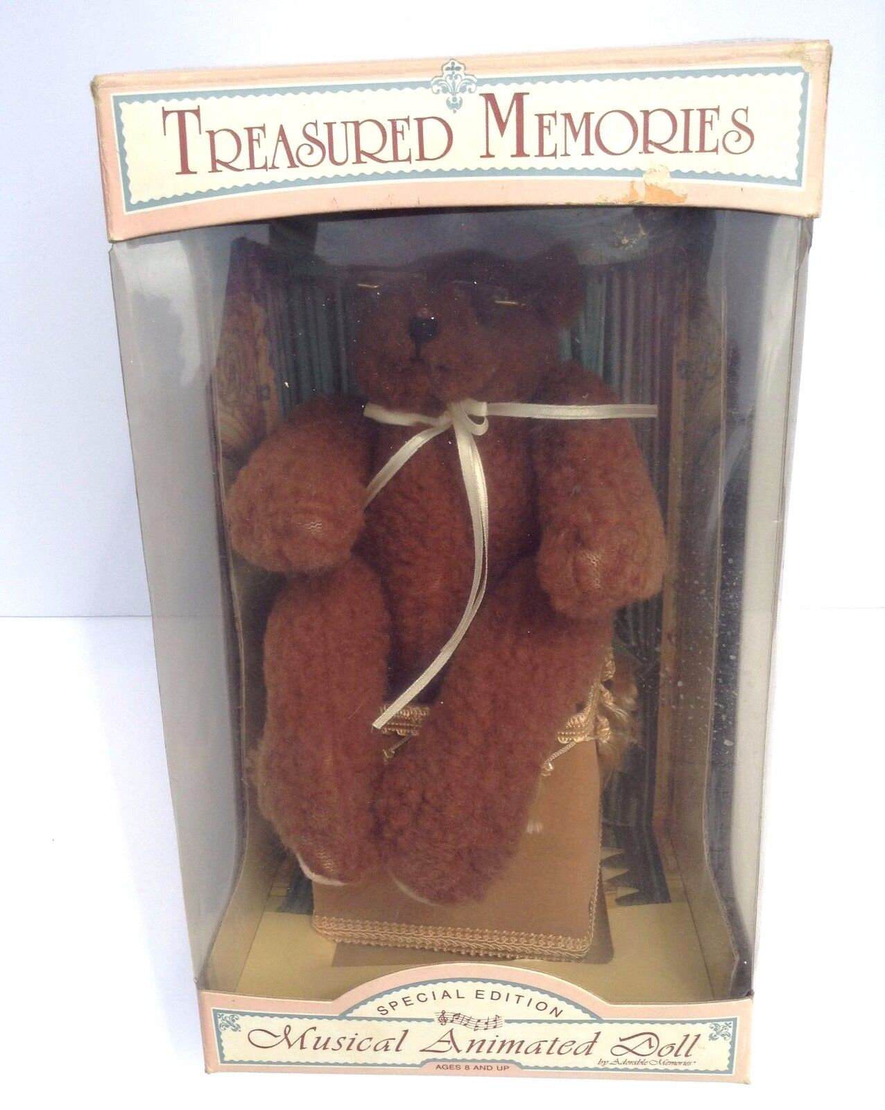 Treasurosso Memories Special Edition Musical Animated Teddy Bear Plays Love story