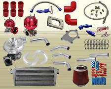 Scion TC XB Lexus SC430 SC300 Universal T3/T4 Turbo/Turbocharger Kit 250HP+ Red