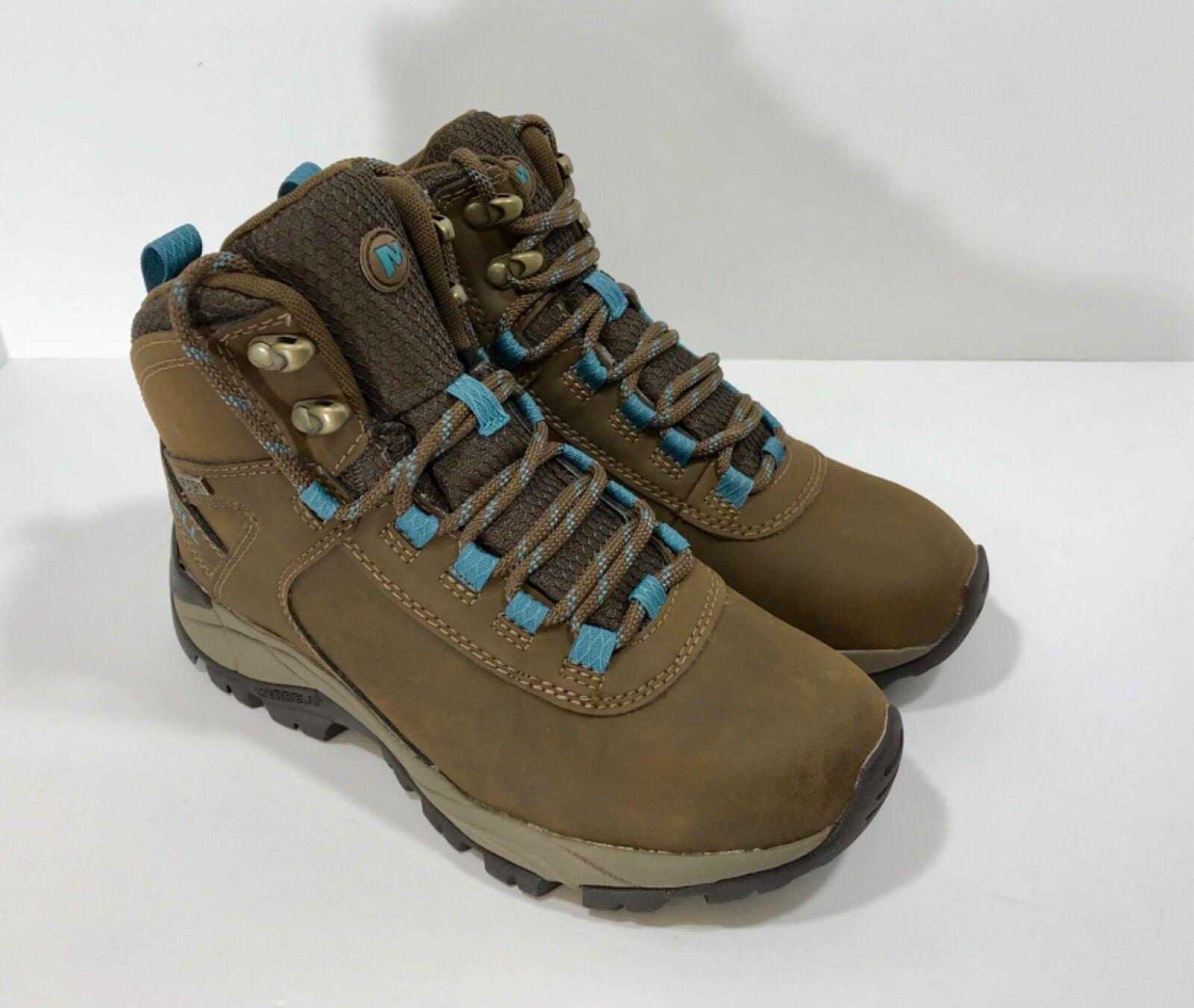 Nuevo  Merrell Vego Mediados de para mujer Impermeable botas De Piel Azul Oscuro Tierra