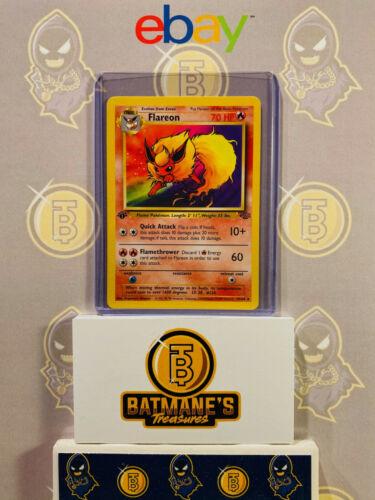 Flareon 19//64 1st Edition NM Near Mint Jungle Set Rare Non-Holo Pokemon Card