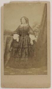 Donna Modalità Francia Foto Carte de visite CDV PL52n Vintage Albumina c1860