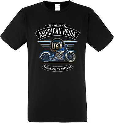 T Shirt In Nero Hd V Twin Biker Chopper - & Old Schoolmotiv Modello Flatty Blue-mostra Il Titolo Originale