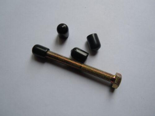 en caoutchouc Fin Covers for Tubes Barres /& fils 10 mm Fin Caps en plastique