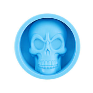 Funny Skull Shape Silicone Ice Tray Mold Muffin Cake Chocolate Baking Mould Tool