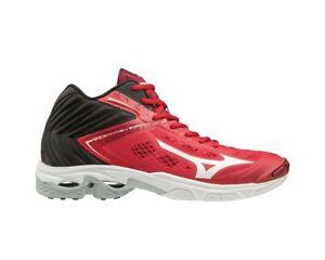 Scarpe-da-Volley-Pallavolo-Uomo-Mizuno-Wave-Lightning-Z5-Mid-Nero-Rosso