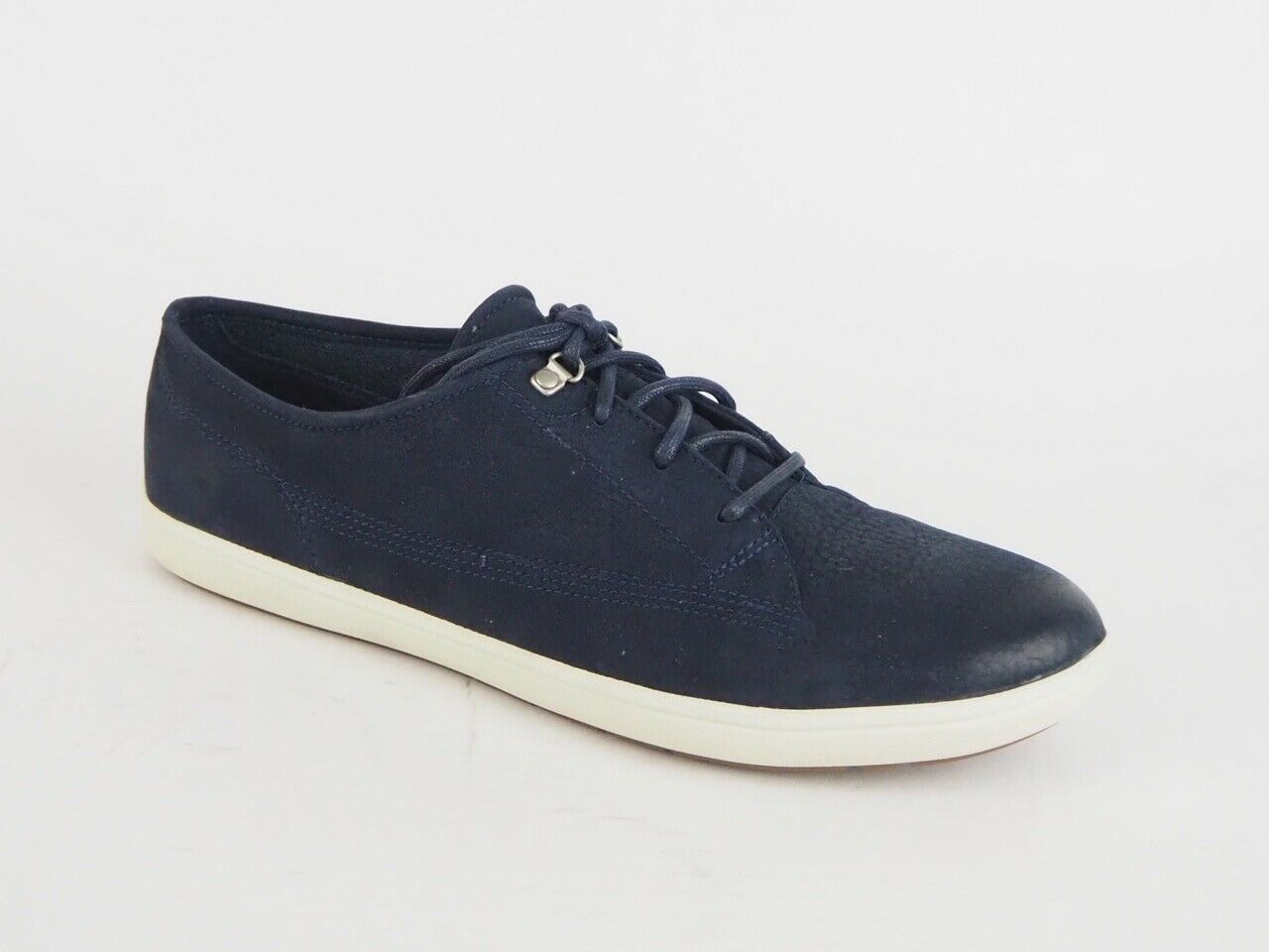 Womens Timberland EK Northport Oxford 8469R Navy Leather Casual Lace Up Shoes