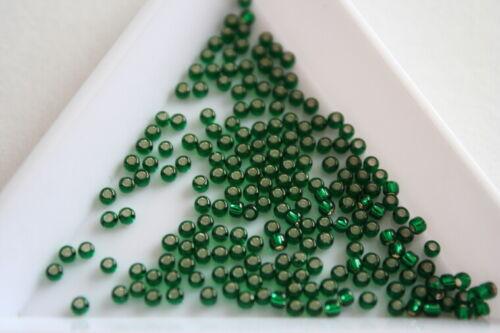 Talla 11 2mm Plata Forrado Verde Esmeralda Toho Semilla Cuentas #7295 600 Perlas Aprox