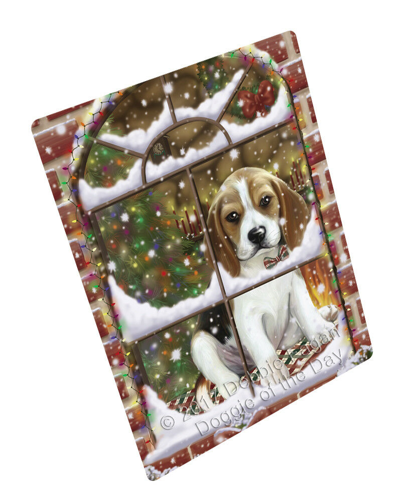 Please Come Home For Christmas Beagles Dog Woven Throw Sherpa Blanket T244