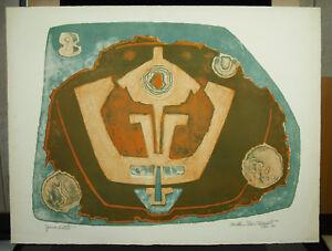 Bettie Cilliers-barnard (1914-2010) Estampe Originale Conte-signée 1971 Abstrait