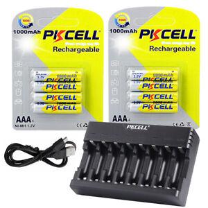 8 Slot Battery Charger AA//AAA NiCd EBL 8 x AAA Ni-MH Rechargeable Batteries