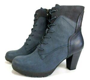 Details zu TAMARIS Touch It Schuhe Stiefeletten blau Schnürstiefel NEU