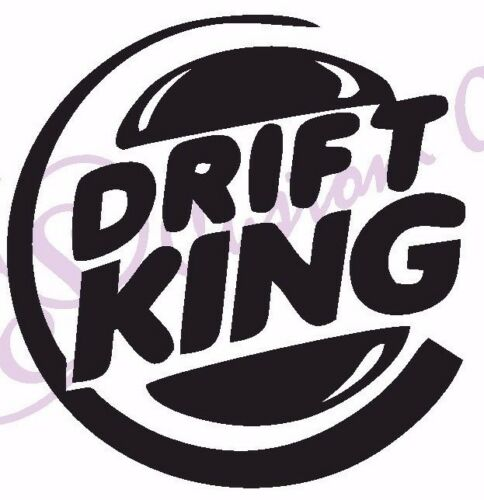 Window//Exterior 11 Colours JDM BMW DRIFT KING BURGER Funny Vinyl Car Sticker