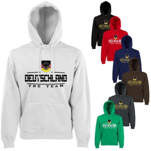 Germania Fan Hoodie con Cappuccio Pullover wm2018