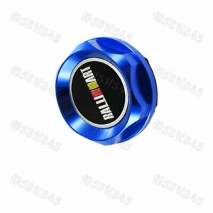 Ralliart Blue Racing Engine Oil Cap Oil Fuel Filler Cover Cap For Mitsubishi