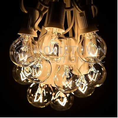 25 Foot - G30, G40 and G50 Globe String Lights for Backyards, Parties and more