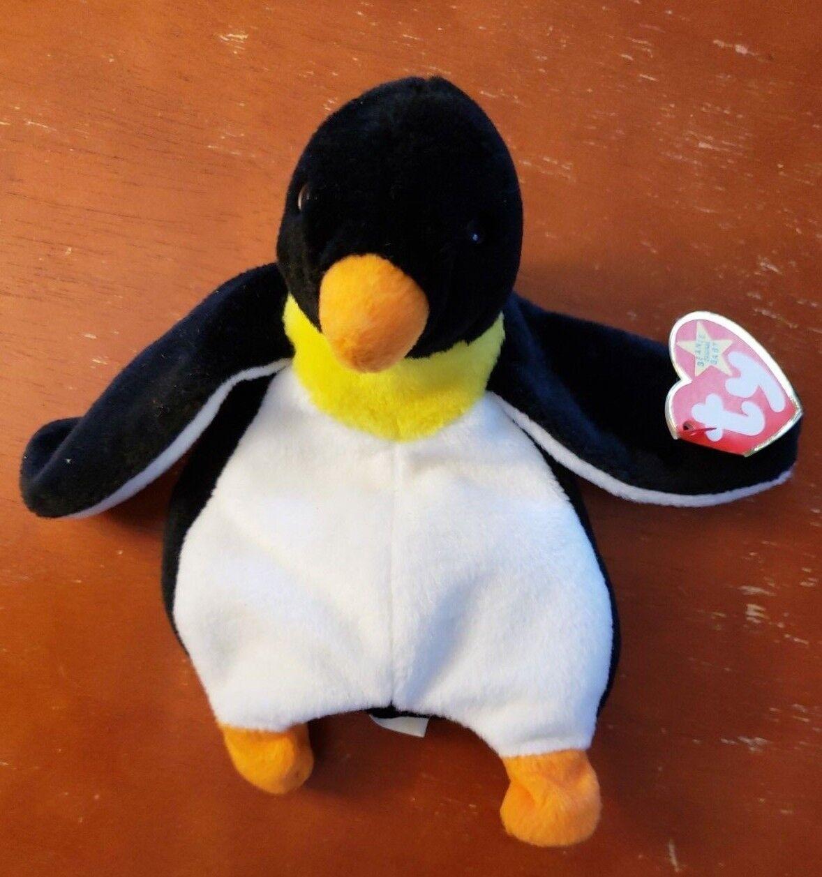 Selten 1995 ty beanie babys watschel der pinguin mit fehlern
