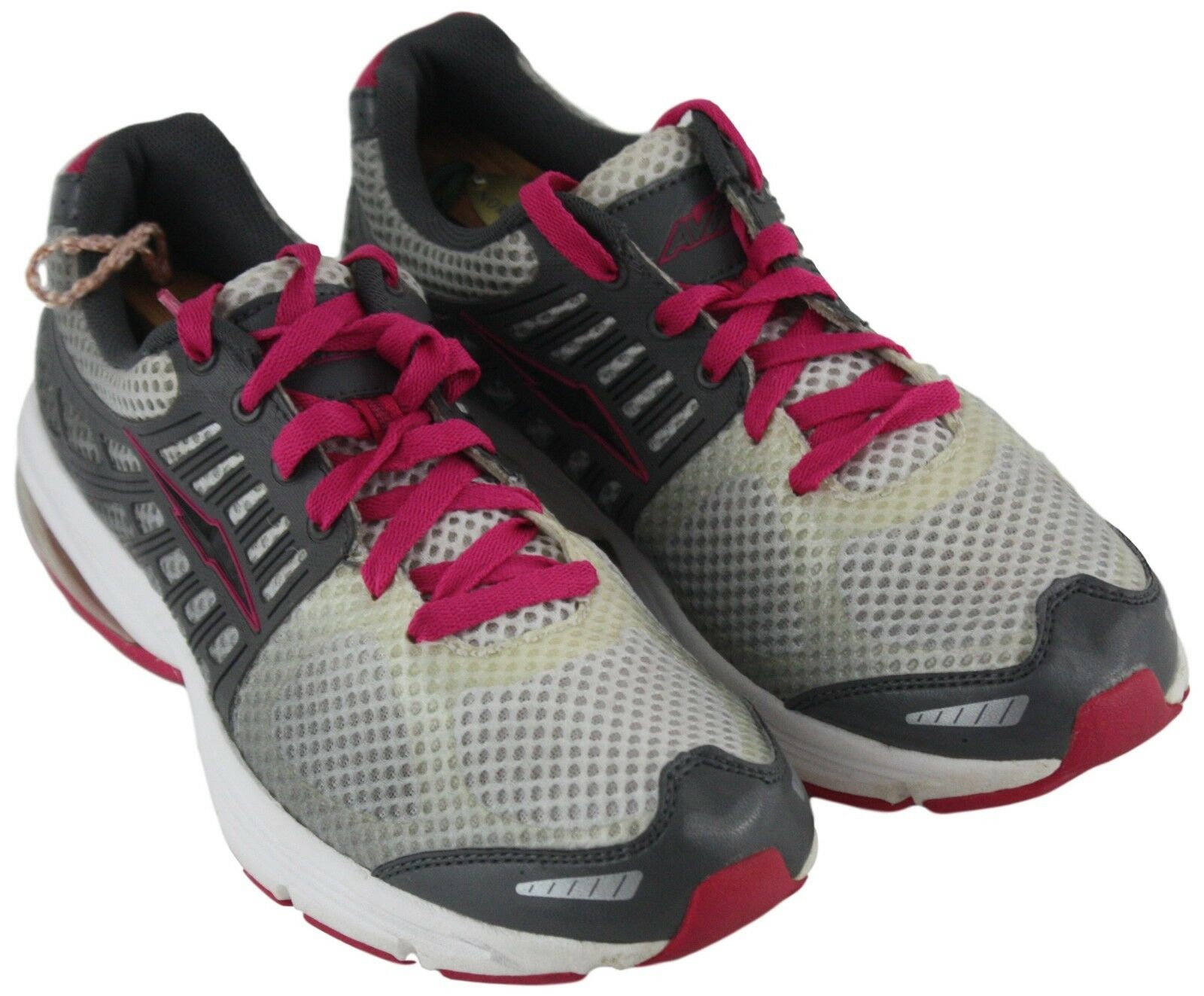 Avia Womens Ladies AVI 180 Grey Shoes Pink Lace Up Athletic Shoes Grey Sneakers Size 8.5 64a799