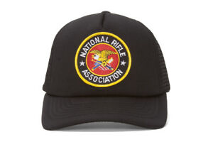 NRA-Embroidery-Black-Military-Trucker-Hat