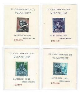 Hojitas-III-Centenario-de-la-muerte-de-Velazquez-ano-1961-1344-1347
