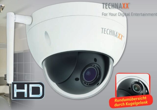 Technaxx TX-67 WiFi IP-Cam Speed Dome PRO FullHD Outdoor Überwachungkamera SMART