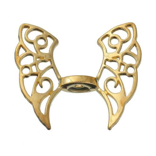 3 Stück Zwischenperlen Spacer Perlen Schmetterling Vergoldet Flügel G//S