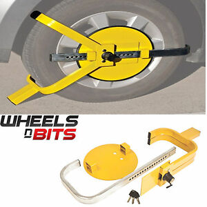 NEW-WHEELS-N-BITS-Car-Caravan-Van-Trailer-13-034-14-034-15-034-High-Security-Wheel-Clamp