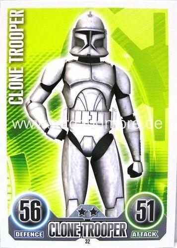 Star wars force ATTAX CLONE soldat #032