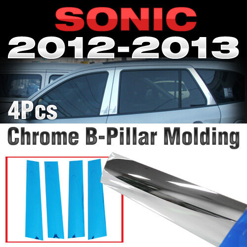 Chrome PVC B Pillar Garnish Molding Trim B155 For CHEVROLET 2011-2017 Sonic Aveo