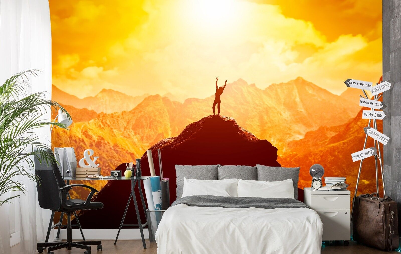 3D Mountain Sun 7 Wall Paper Print Wall Decal Deco Indoor Wall Murals US Summer