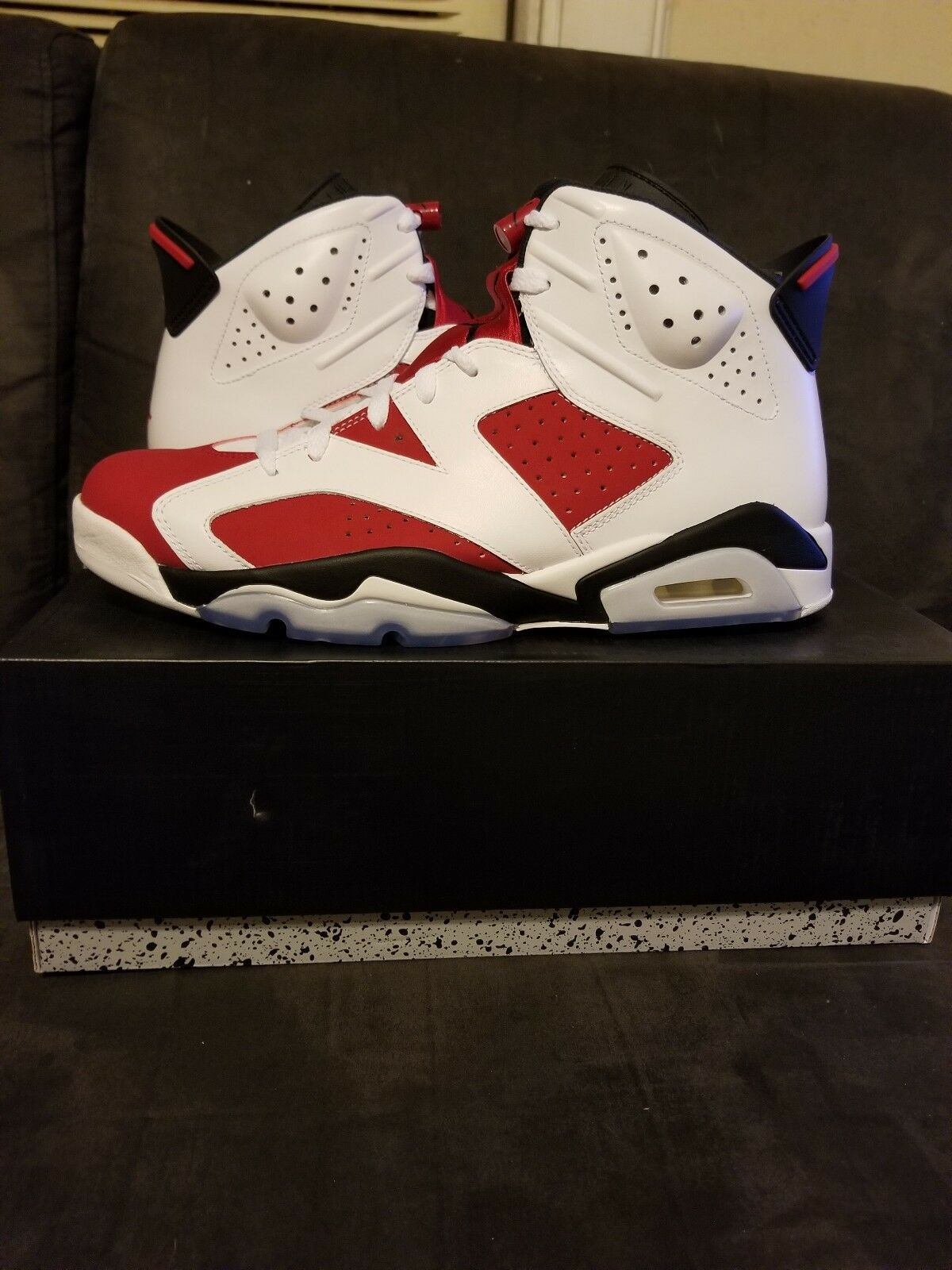 NIKE AIR JORDAN RETRO 6 VI CARMINE SIZE 10.5 BRAND NEW DS 100% AUTHENTIC