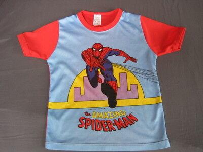 Boy's Marvel Spiderman Da Collezione Vintage 1980 T-shirt 5/6 (9/10, Ma Molto Piccoli)-mostra Il Titolo Originale