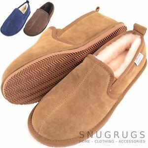 Details zu Snugrugs HerrenHerren Luxus Voll Lammfell Pantoffel Stiefel mit Gummisohle