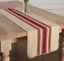 VINTAGE-BURLAP-RED-STRIPE-Natural-72-034-Table-Runner-prim-Farmhouse-VHC-Brands thumbnail 1