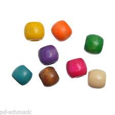 Pd:100 Charm Holz Perlen Beads fit European Armbänder Halskette 12mm x11mm