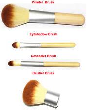 4x Bamboo Manico Fondotinta Polvere Bronzer Correttore Kabuki Pennelli Makeup